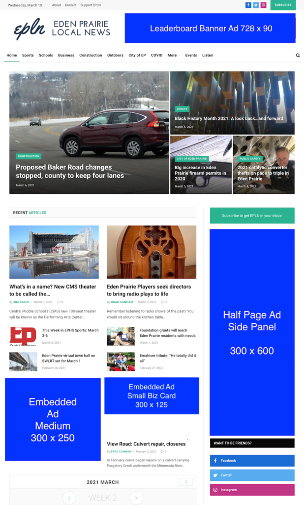EPLN Ad Placements